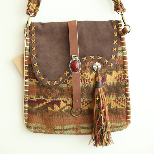 Irie Soul Kilim Fabric Crossbody Purse