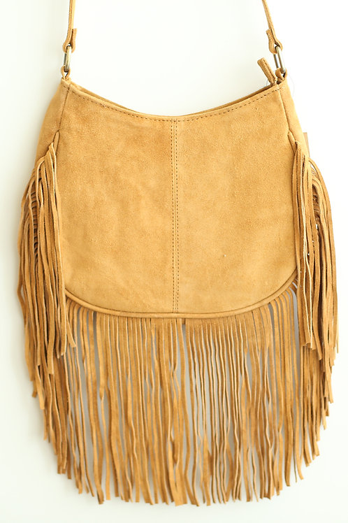 Irie Soul Suede Leather Fringe Purse