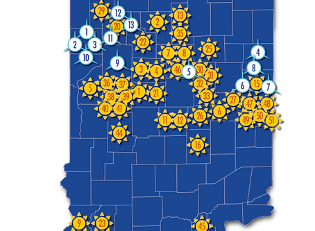 The wind blows and sun shines all over the Hoosier State!
