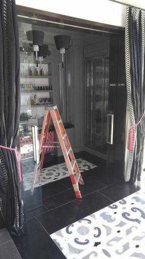 Glass pocket door repair