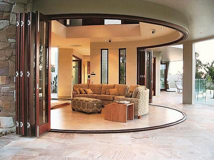 Pella Wood Curved BiFold Door.JPG