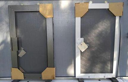 century and 1 3/4 new screen doors bronze and white