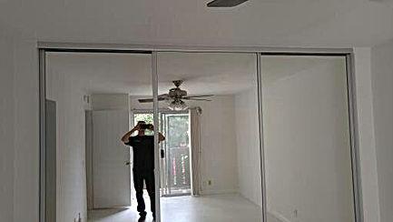 Closet door installed