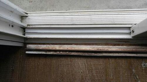 Patio door vinyl track replacement