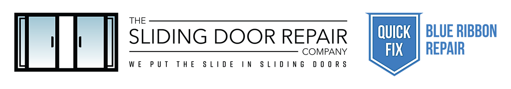 The Sliding Door Repair Company Logo Quick Fix Logo