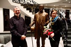 sculpture inauguration
