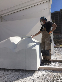 Roughing marble