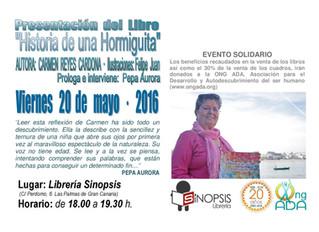 Nueva publicación de Carmen Reyes · Historia de una Hormiguita · 20 de mayo