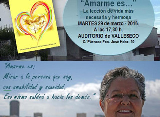 """Presentación del libro: """"Amarme Es..."""" en Auditorio de Valleseco"""