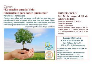 Próximo Curso de Carmen Reyes · inicio 24 de mayo