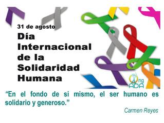 Día Internacional de la Solidaridad (lunes 31 de agosto)