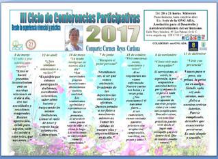 En marzo comienza el III Ciclo de Conferencias Participaticas por Carmen Reyes.