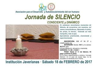 Primera de las Jornadas de Silencio para este año · 18 de febrero.