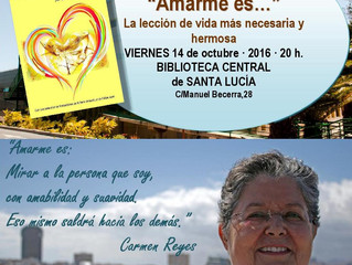 """Próxima presentación del libro: """"Amarme Es..."""" en Vecindario..."""