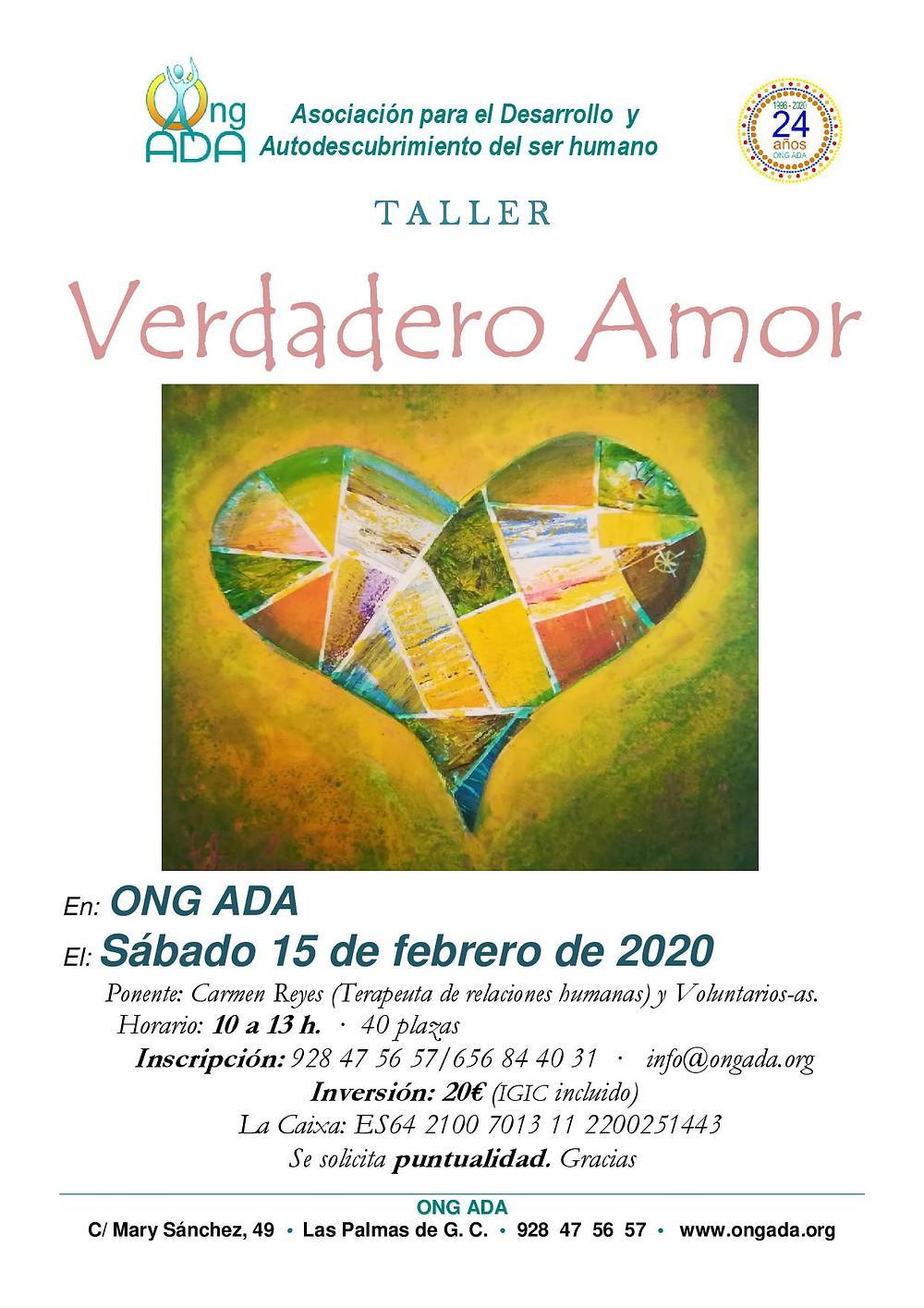 Les compartimos la información del próximo taller que tendrá lugar el sábado 15 de febrero de 2020.