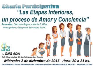 """""""Las Etapas Interiores, un proceso de Amor y Conciencia"""" Charla-Participativa."""
