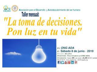 Próximo Taller en la sede de la ONG ADA.