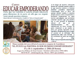 """Curso: """"Educar Empoderando"""" que organiza: Carlos González."""
