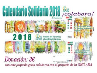Ya contamos con el Calendario Solidario 2018