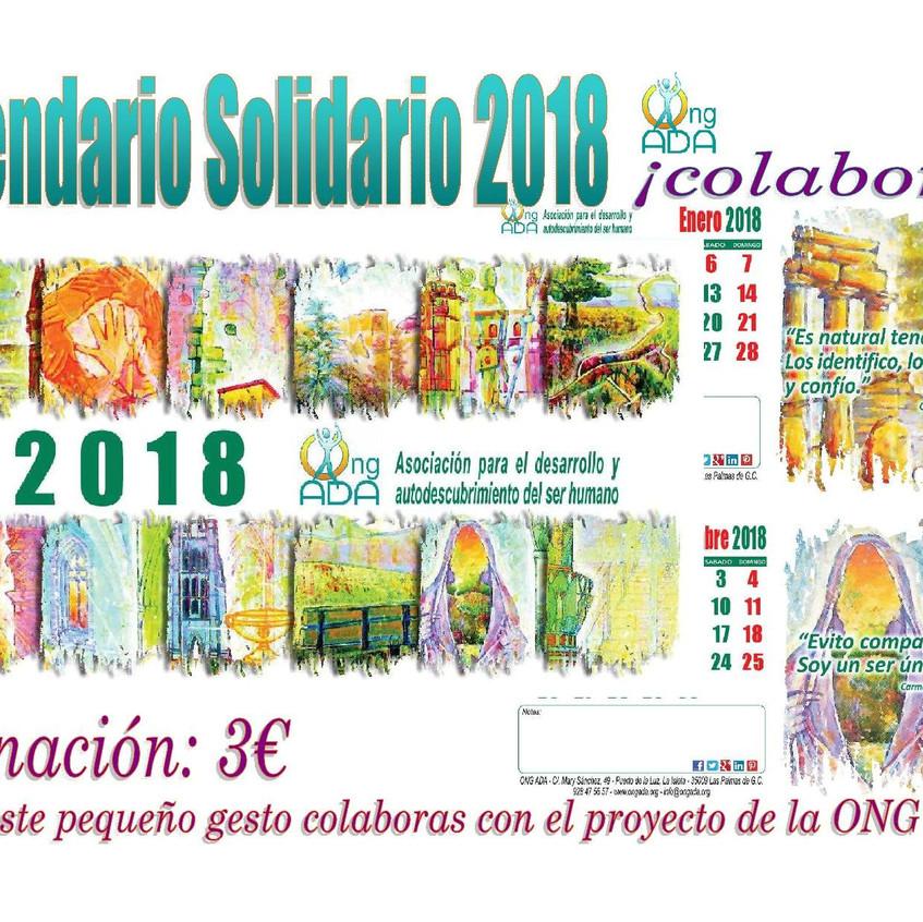 Cartel Calendario 2018. Cartel venta.2