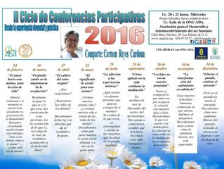 Muy pronto comienza el II Ciclo de Conferencias Participativas por Carmen Reyes...