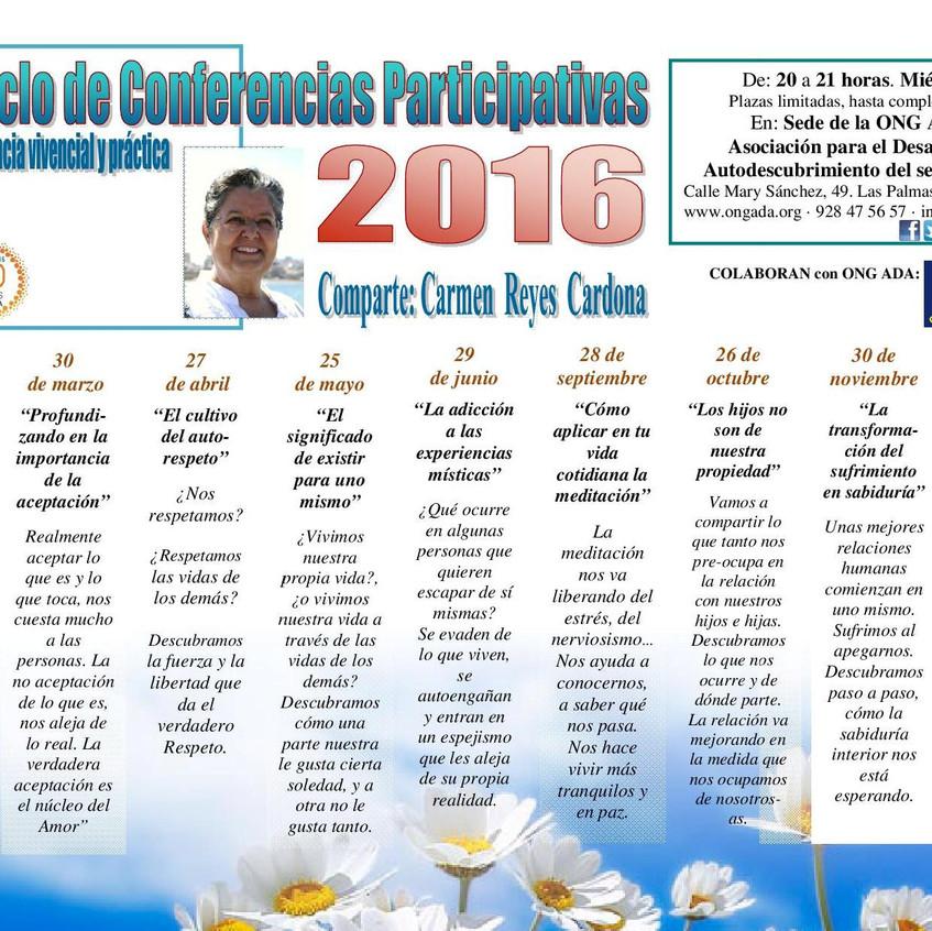 II Ciclo de Conferencias 2016 en ADA