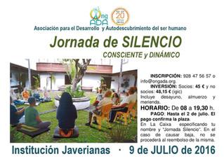 Jornada de Silencio · Sábado 9 de julio
