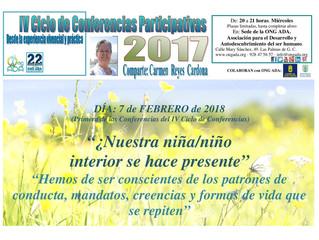 Comienza el IV Ciclo de Conferencias Participativas de Carmen Reyes...