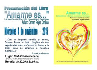 """Nueva publicación de Carmen Reyes: """"AMARME ES..."""""""