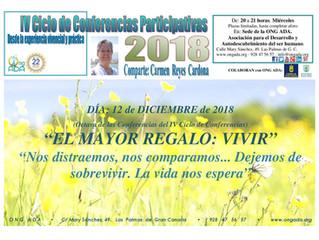 Nueva Conferencia del IV Ciclo de Conferencias Participativas.