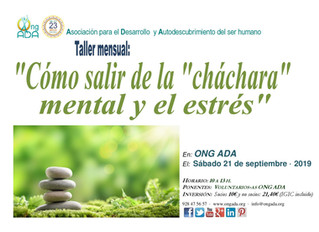 Próximo taller en la sede de la ONG ADA