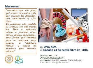 Nuevo taller en la sede · 24 de septiembre.