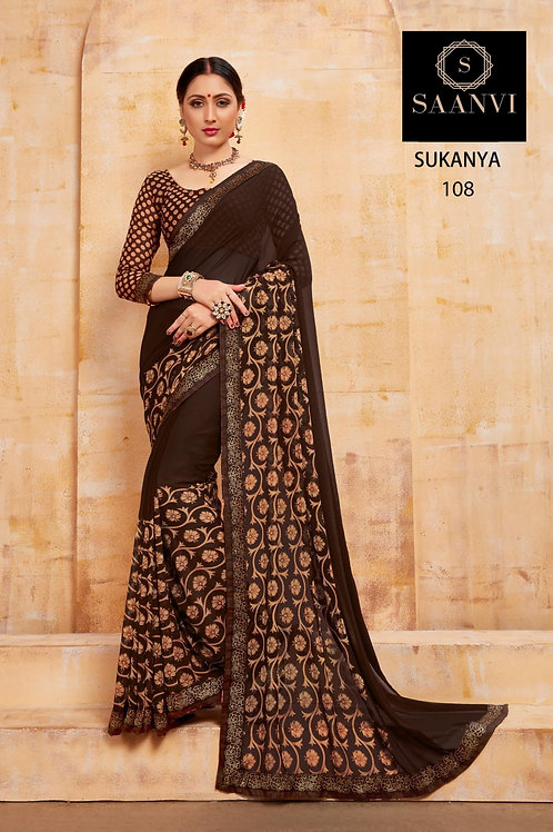SUKANYA BROWN COLOR CASUAL WEAR SAREE