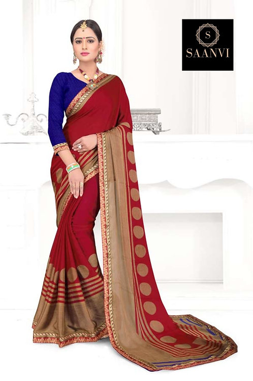 ELINA RED COLOR SAREE