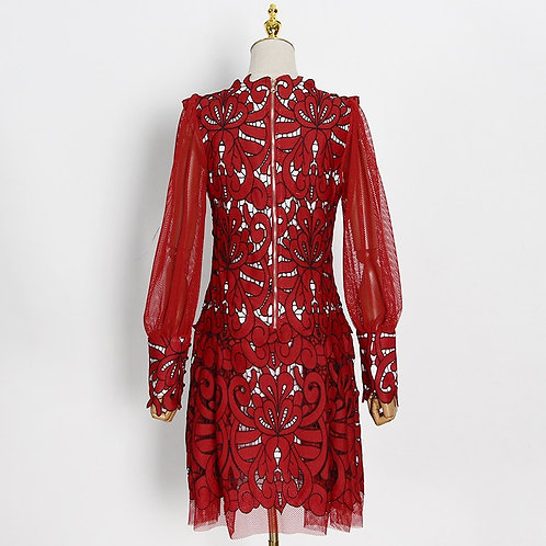 Vintage robe en maille pour femme, manche longue, taille haute, nouveaux 2021
