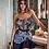 Thumbnail: Celebrity Blue Print Strapless Pencil Bandage Dress  Party Dress