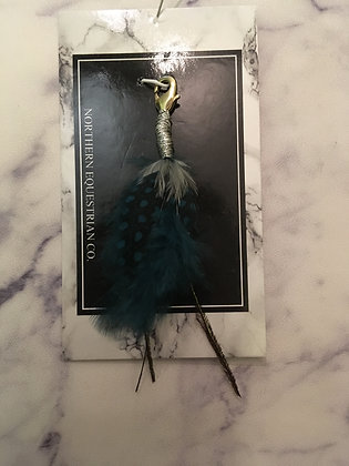 Blue Feather Charm
