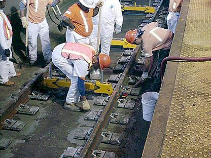 pumping concrete LVT-AMTRAKNewarkStation