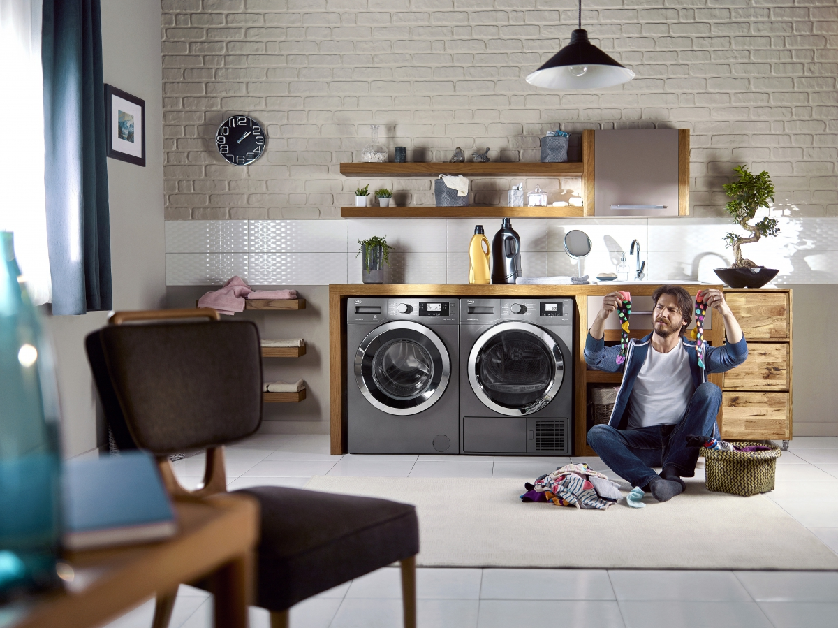 Beko Grey Laundry Set