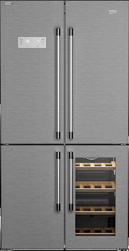 American Style, Multi-door Fridge Freezer with Wine Cooler