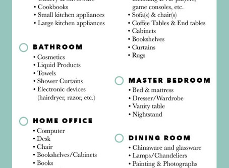A Packing Checklist by Room