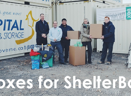 Boxes for ShelterBox