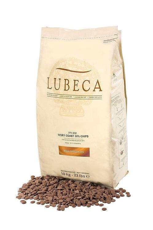 10 kg CHOCOLATE LECHE 35% IVORY COAST