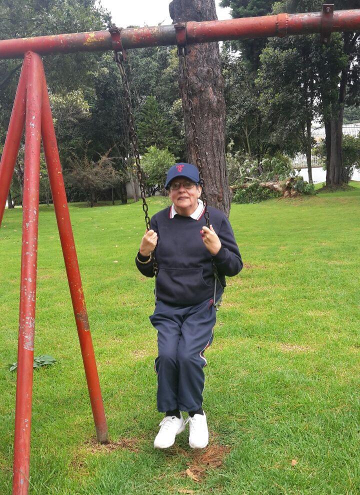 Disfrutando en el parque.