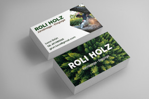 Business card layout for a gardener