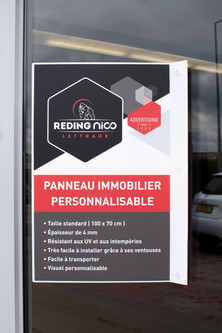 IMMO ADVERTISING SIGN