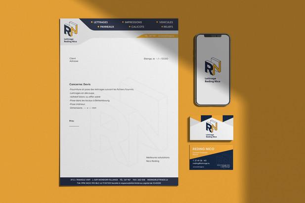 Brand Identity for Lettrage Reding Nico