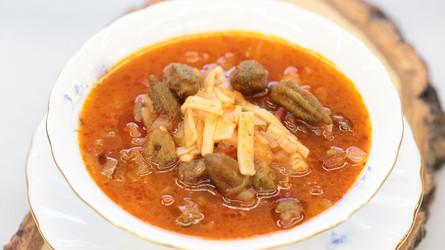 Erişteli Bamya Çorbası