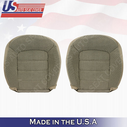 2002-2005 Ford Explorer XLT Driver- Passenger Bottom Cloth Seat Cover TAN