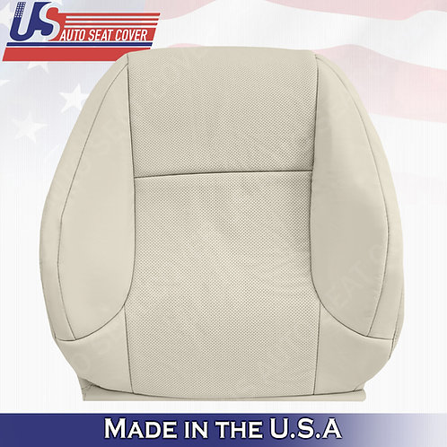 For 2010-2017 Lexus GX470 Passenger Top Perf. Leather Seat Cover Light Tan-Ecru